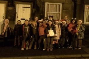 Brownies delivering hampers